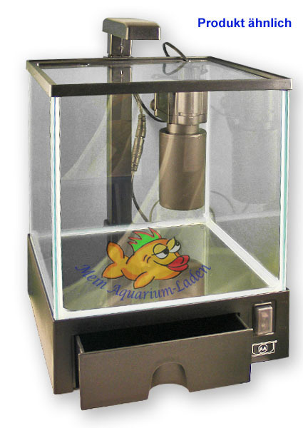 Trendig Aquabox 5,5 L Glas-Aquarium mit Filter Pumpe LED-Beleuchtung LC19