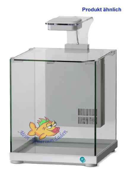 Trendig weiß Glas-Aquarium Komplett-Set 9 l LED-Beleuchtung und Filter ATMAN LC19